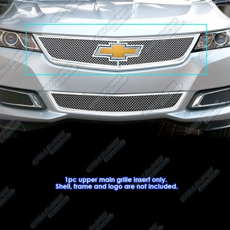 Fits 2014-2019 Chevy Impala with Logo Show Stainless Steel Mesh Grille Insert #C75945T ()