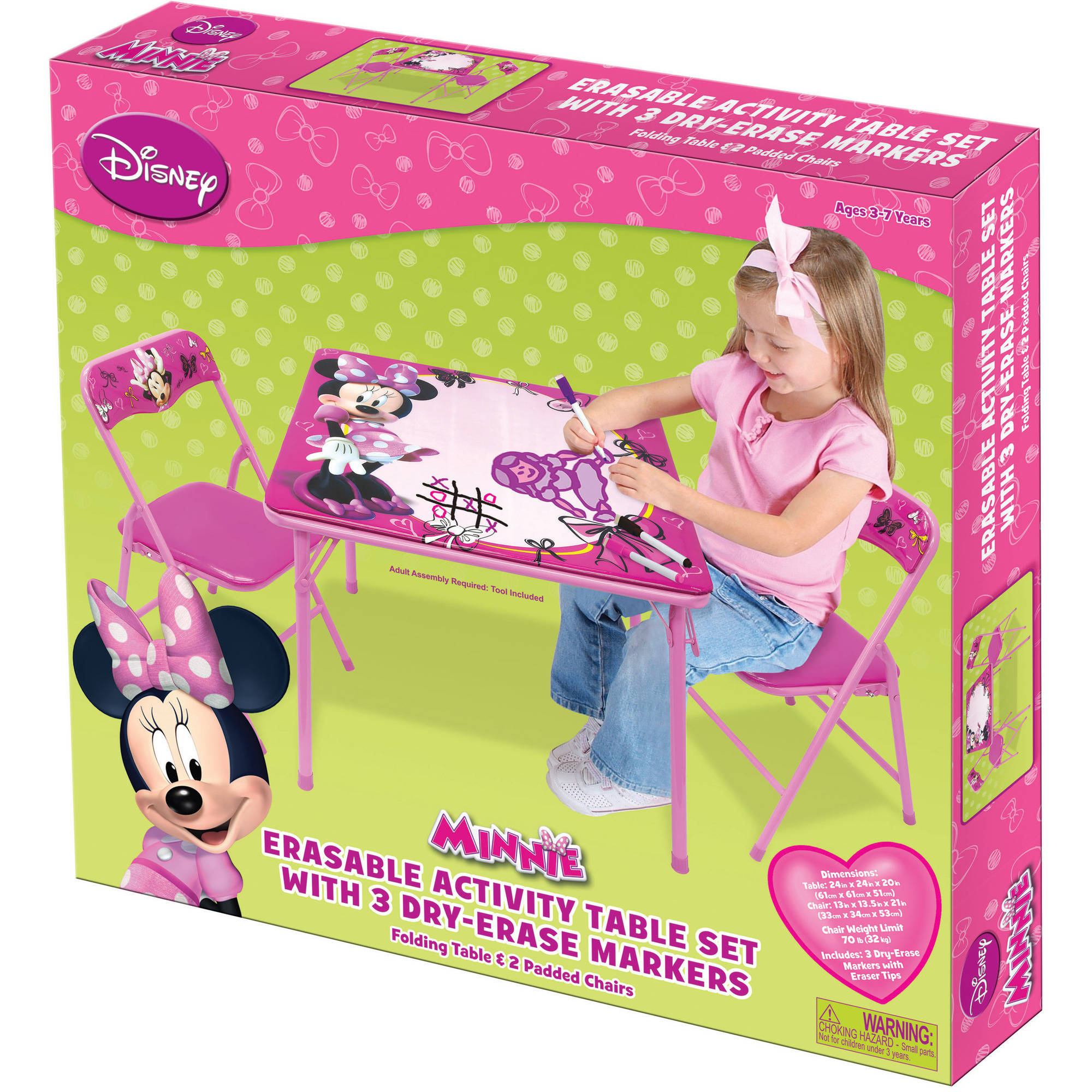 Disney Minnie Mouse Erasable Activity Table Set with Markers ...