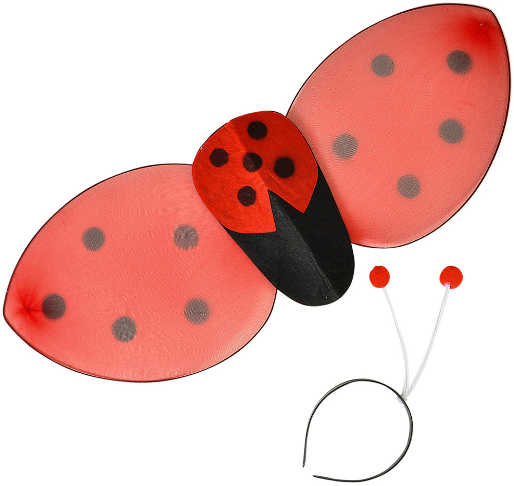 "24.5"" Lady Bug Wings And Headband Set Insect Costume Accessory"