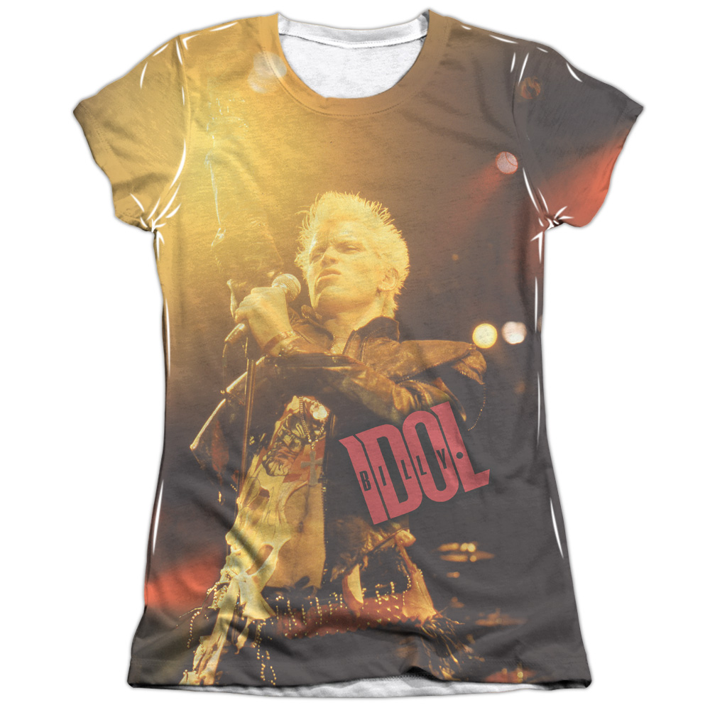 Billy Idol Rebel Juniors Sublimation Shirt
