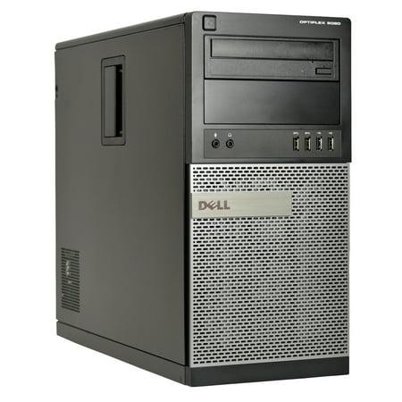 Refurbished Dell Optiplex 9020 Mini-Tower Desktop, Quad Core i5 4570 3.2Ghz, 4GB DDR3 RAM, 4TB Hard Drive, Windows