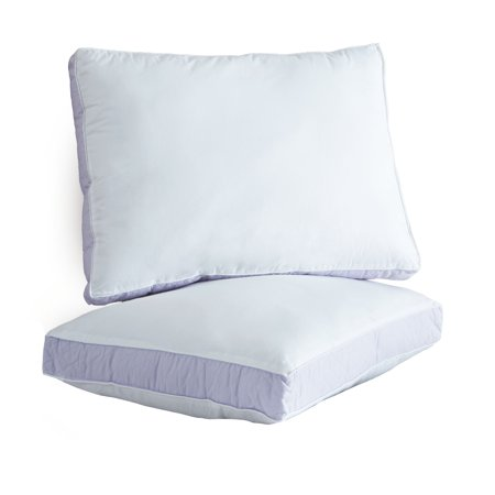 Ultrasoft Quilted Sidewall Bed Pillows, Extra Firm, Set of 2 ()