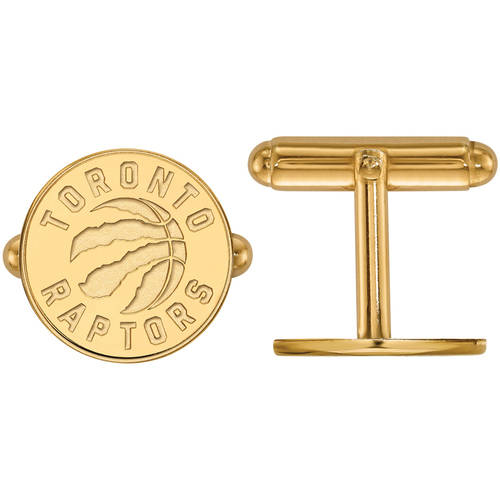 LogoArt NBA Toronto Raptors 14kt Yellow Gold Cuff Links