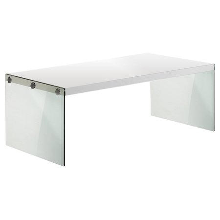 Monarch Specialties I 3286 Coffee Table Tempered Gl Glossy