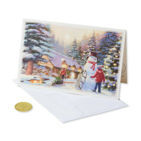 (14ct) American Greetings Premium Kids and Snowman Christmas Boxed Cards and Envelopes - Tinkerbell Christmas Cards