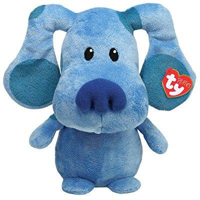 ty pluffies blue blue's clue nickelodeon plush soft toy blue