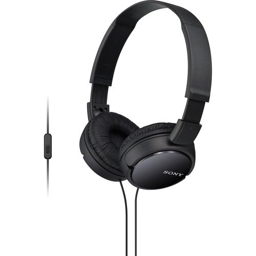 Sony MDR-ZX110AP EXTRA BASS Headphones with Mic- Black