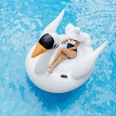 Intex Inflatable Mega Swan Island Float, 76.5