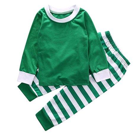 Christmas Toddler Kids Girls Cute Long Sleeve Cotton T-Shirt Tops + Long Leggings Pants 2Pcs Outfits Set - Cute Christmas Outfit
