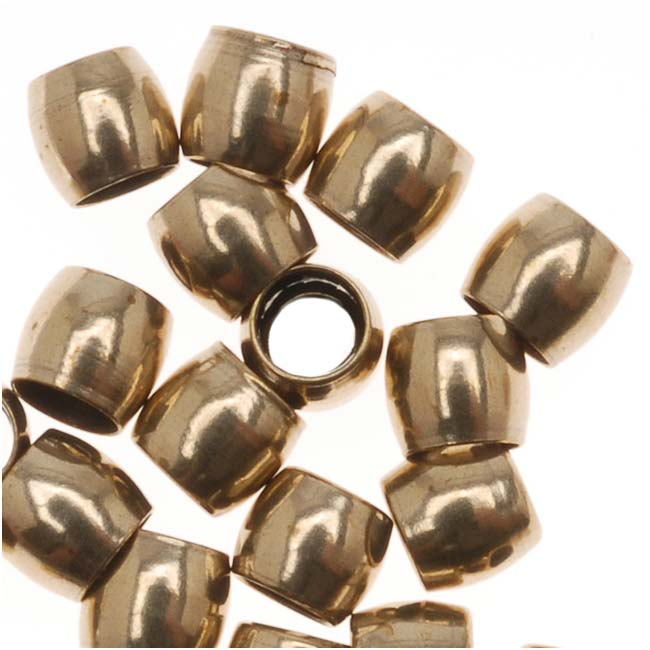 Antiqued Brass Economy Crimp Beads 3mm x 2.7mm (50)