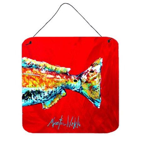 Caroline S Treasures Fish Red Fish Alphonzo Tail By Martin Welch Painting Print Plaque Walmart Com