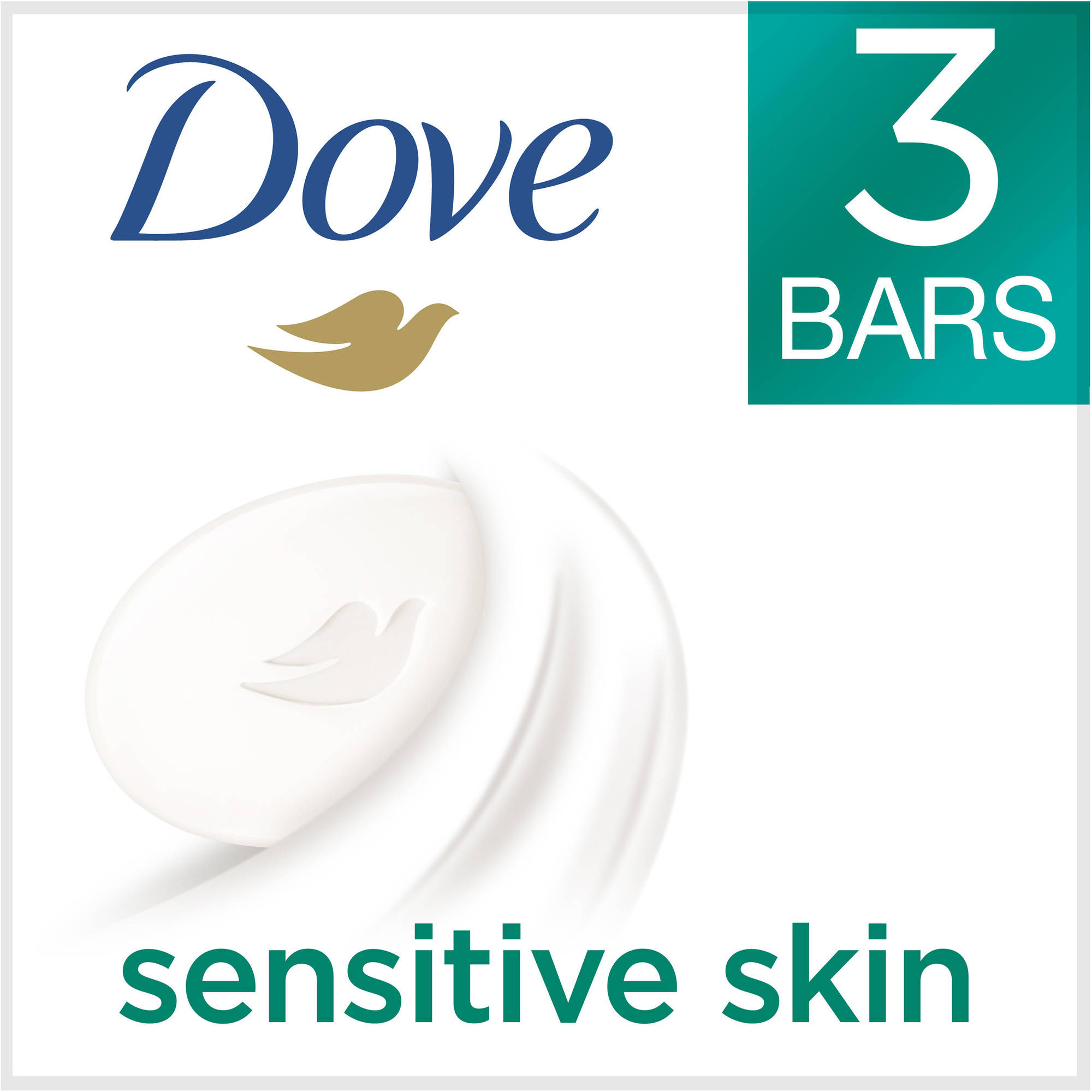 Dove Sensitive Skin Beauty Bar, 3.15 oz, 3 Bar