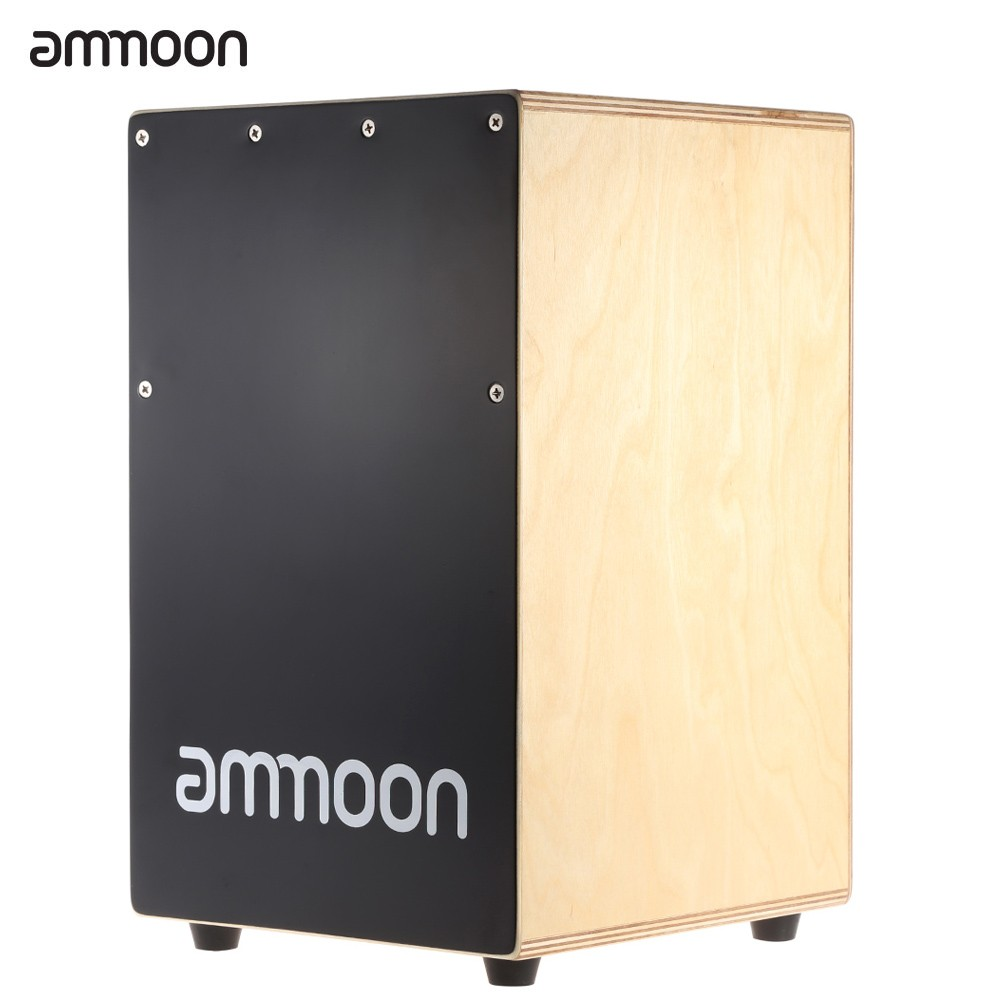 ammoon Wooden Cajon Hand Drum Children Box Drum Persussion Instrument with Stings Rubber... by