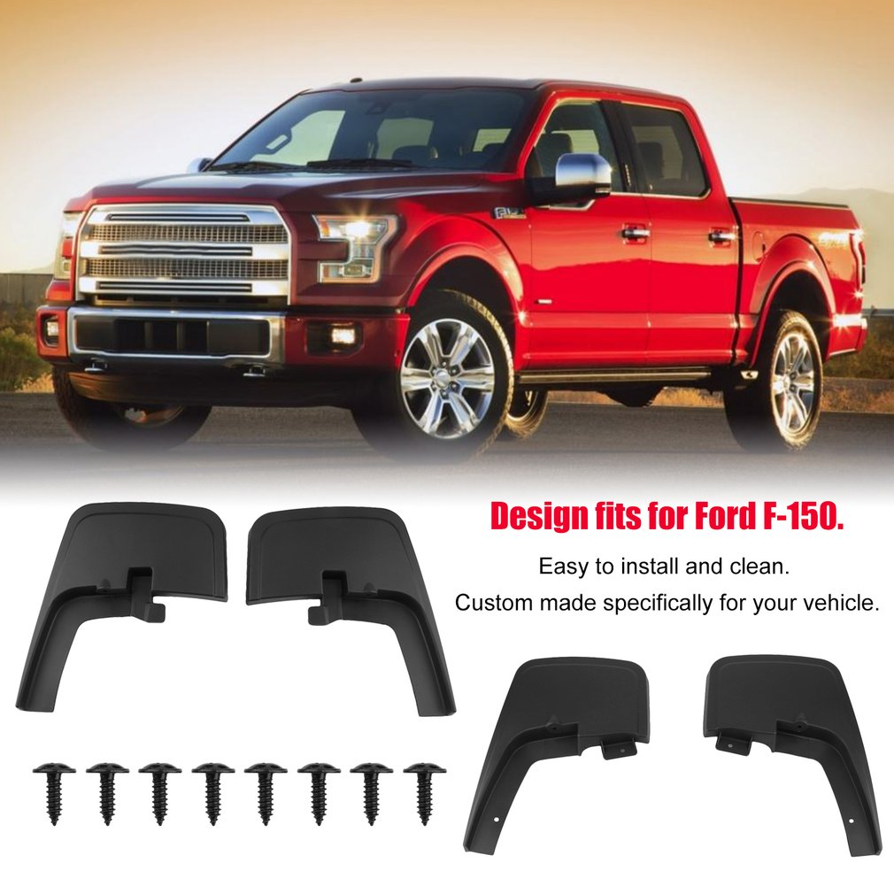 Car Splash Guards Molded Mud Flap Mudguards Accessories For Ford F