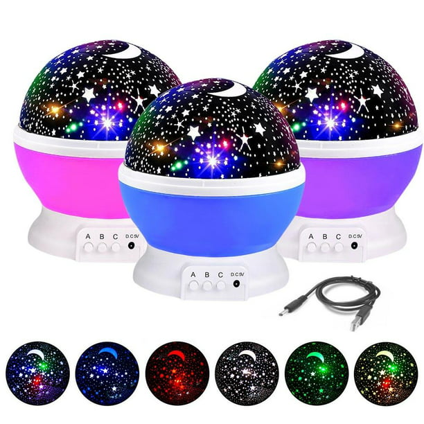 Night Light Projector, 360 Degree Rotation Kids Projector Night Light with 8 Multicolor, Starry Light Best Presents for Kids Nursery Bedroom - Assort Color