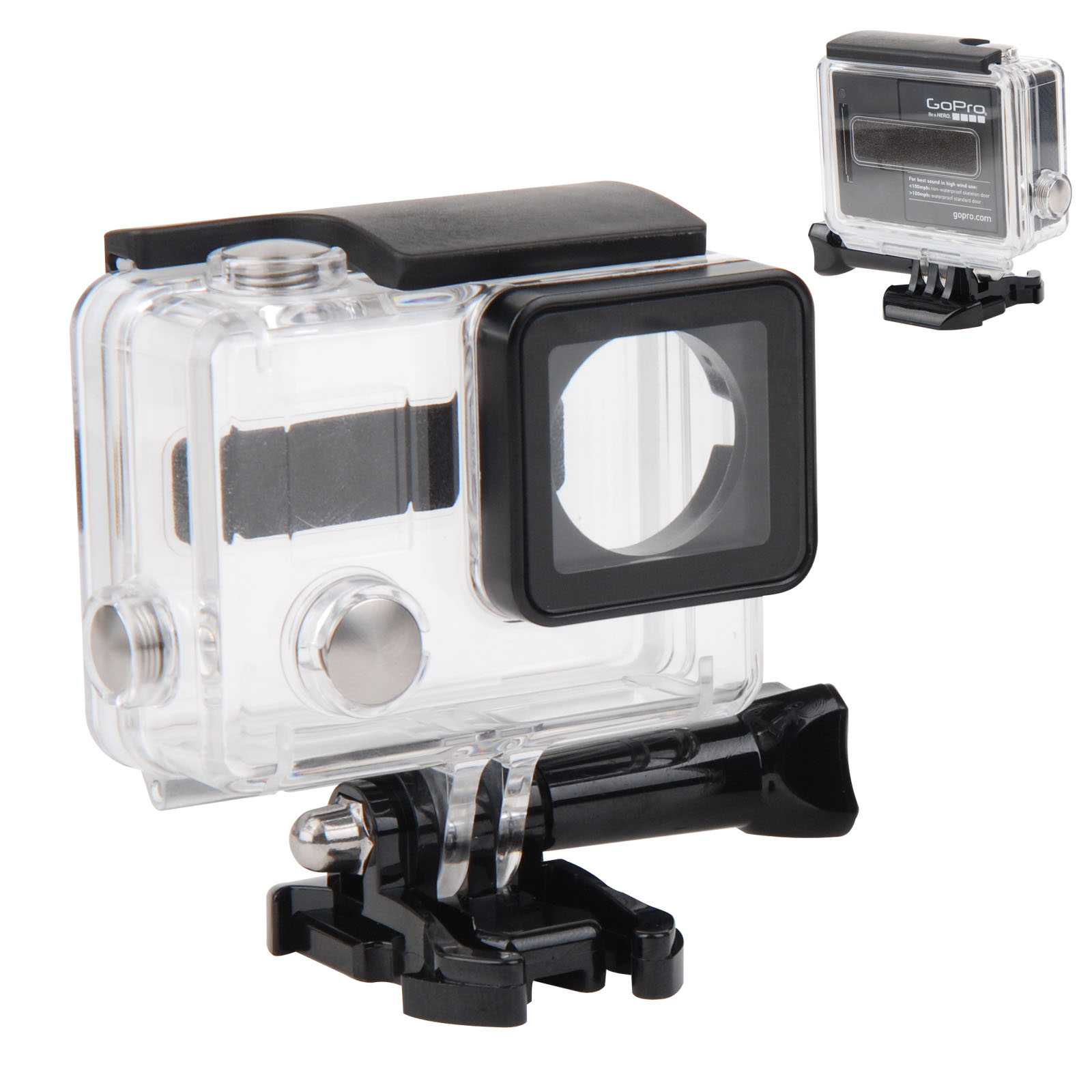 Full Sealed Transparent Waterproof Diving Protective Housing Case for GoPro Hero 3+