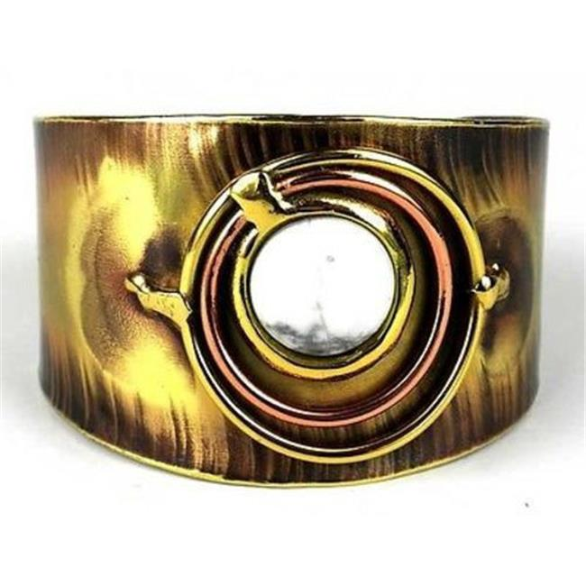Brass Images Concentric Howlite Brass & Copper Cuff