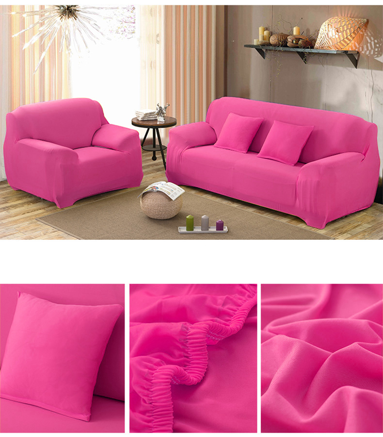 Spandex Couch Covers Fitted Sofa Cover Stretch Sofa Slipcovers,Rose Red