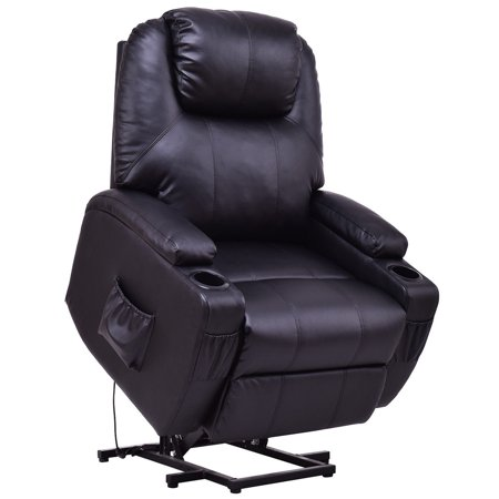 Lift Sofa Chair Electric Power Recliner w/ Remote & Cup Holder Living Room - image 8 of 10