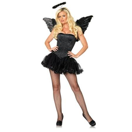 Womens Sexy Black Corset Halloween Costume - Corset Halloween Costume