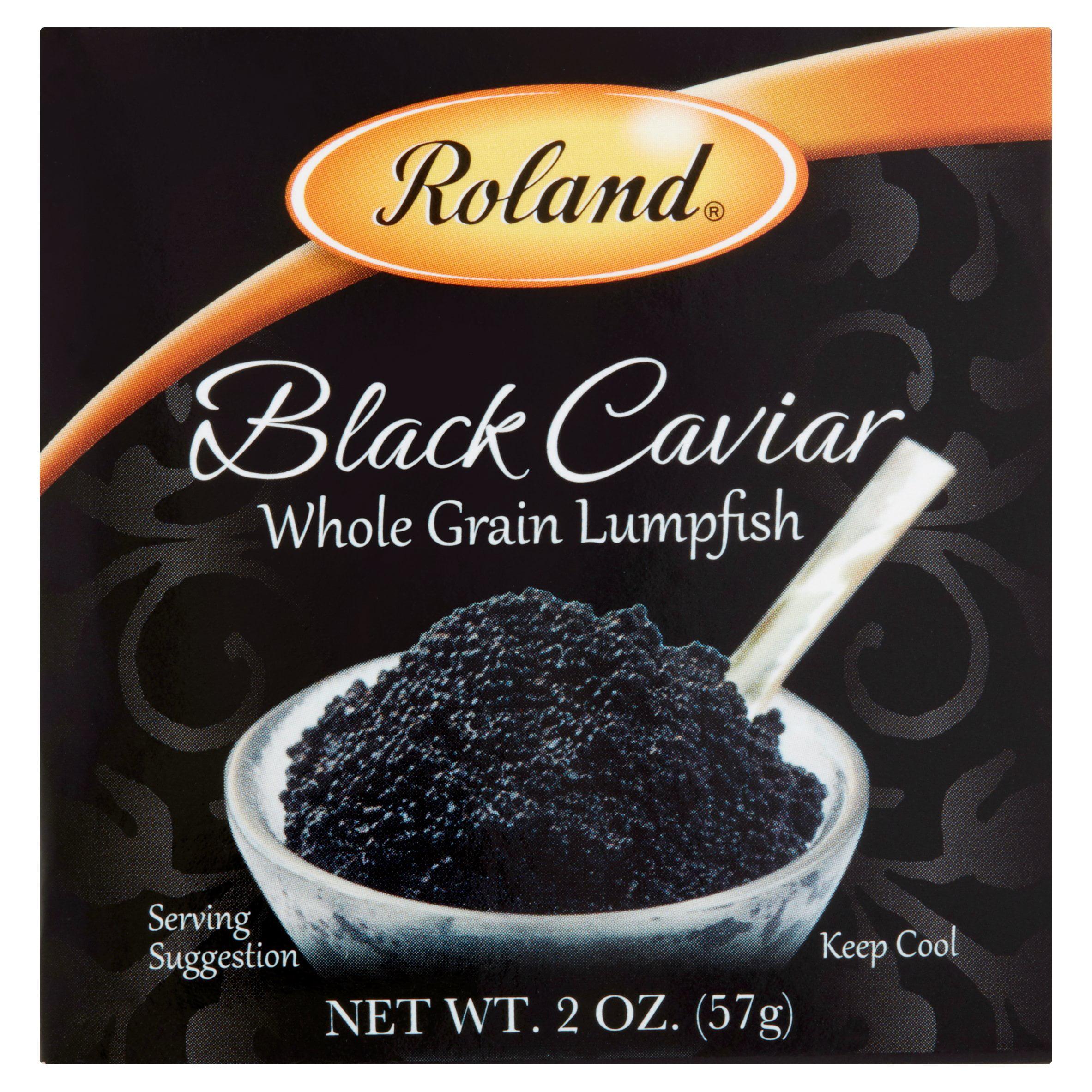 Roland Black Caviar Whole Grain Lumpfish, 2 oz by American Roland Food Corp.
