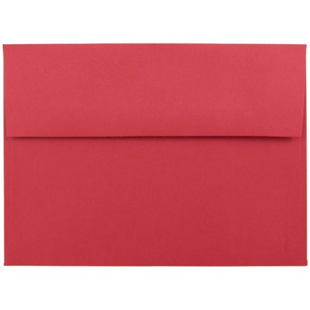 Red Envelope Gift - Quality A7 Bright Red Envelopes, Standard Announcement Size 5.25 x 7.25, 25 Envelopes per Box