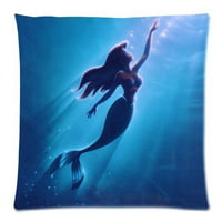 DEYOU The Little Mermaid Pillowcase Pillow Case Cover Two Sides Printing Size 18x18 inch