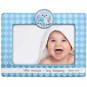 "Frame-Little Miracle Big Blessing-Blue (6.5"")"
