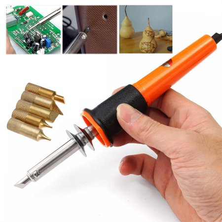 (7 Pcs Wood Burning Detailer Tool Kit Set Profesional Soldering Iron Pen Kit Wood Burning Burner Set With Brass Tips)