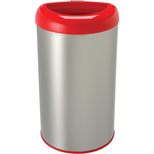 Nine Stars Open Top 13.2 Gal Trash Can, Stainless Steel by Nine Stars