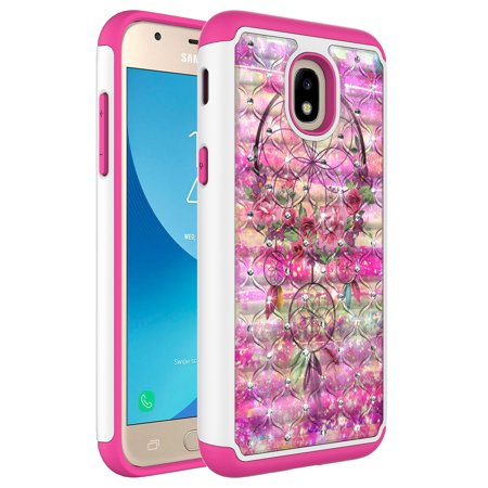 Samsung Galaxy J7 Refine / J7 V 2nd Gen. / J7 Star / J7 Top / J7 (2018) Case, KAESAR Hybrid Dual Layer Graphic PC and Colorful TPU Fashion Protective -
