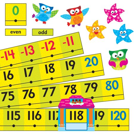 Owl Bulletin Board Ideas (Trend, TEP8299, Owl-Stars Collection -20 To 120 Board Number Line, 1 Set,)