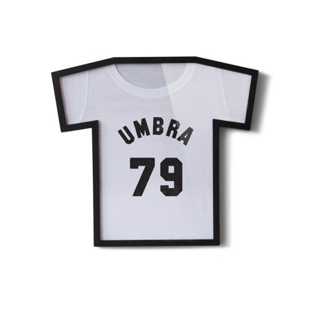 Umbra T-Frame T-Shirt Display Case, Picture Frame for T-Shirts, Black
