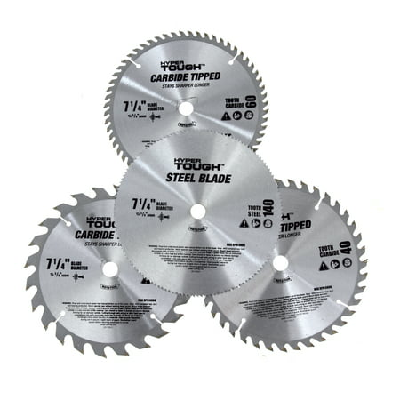 HYPER TOUGH AU30006J 4 PIECE, 7 1/4 INCH CIRCULAR SAW