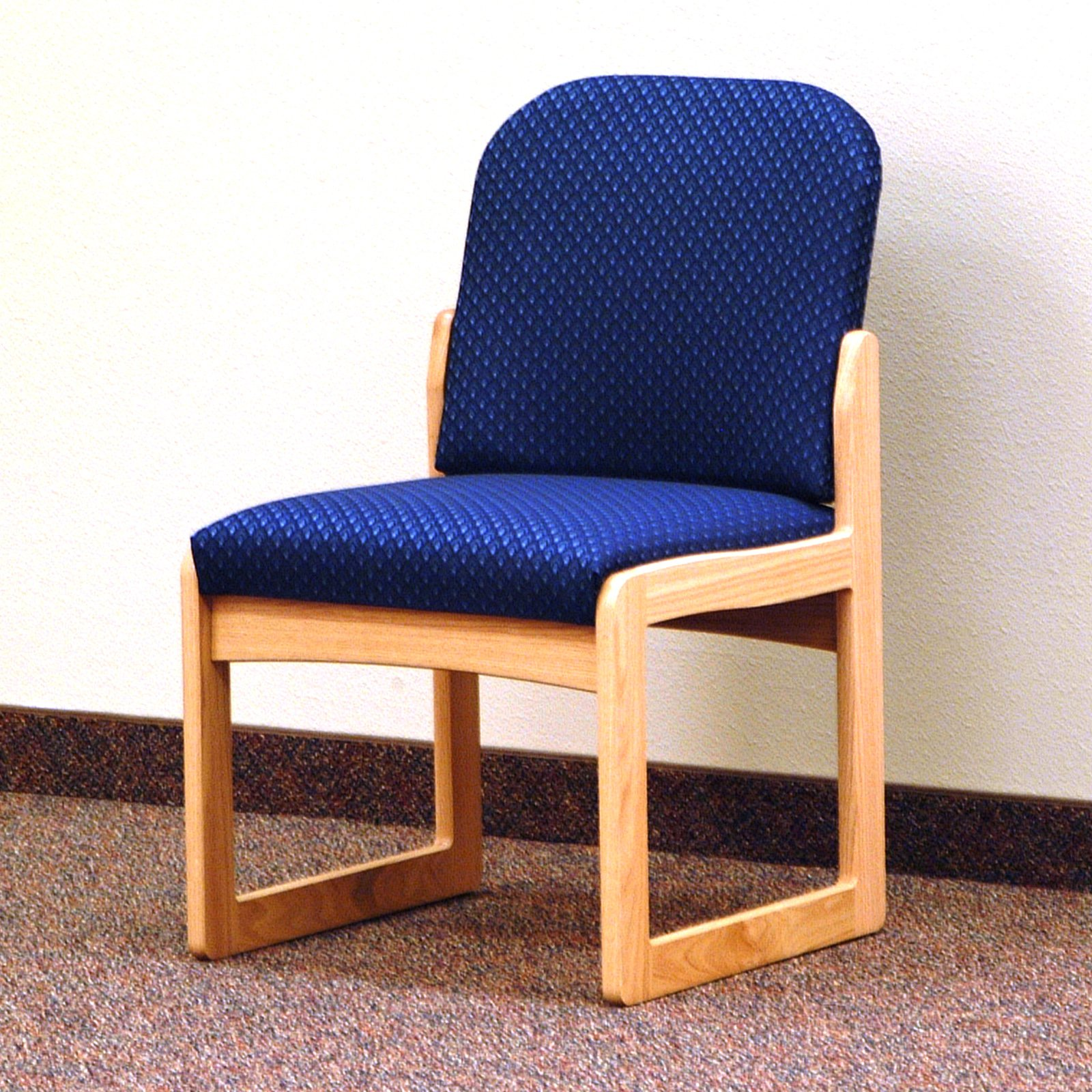 Wooden Mallet DW8-1 Solid Oak Armless Guest Chair