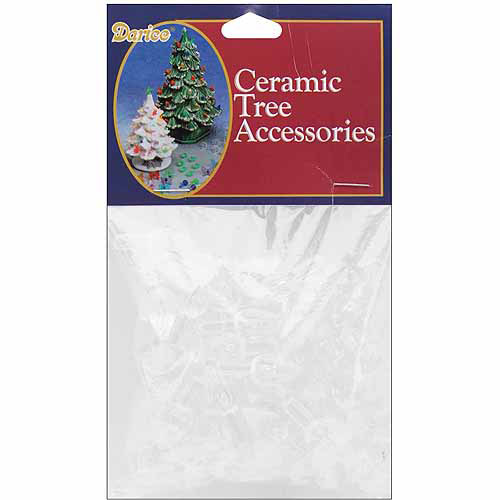 "Darice Ceramic Christmas Tree Bulb, .625"", 100pk"