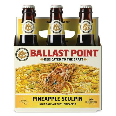 Ballast Point Sculpin Pineapple IPA Craft Beer, 6 pk 12 fl oz Bottles, 7 0%  ABV