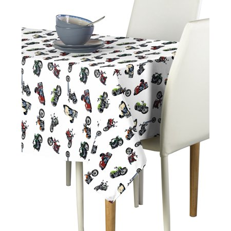 Fabric Textile Products Born to Ride Motorcycles Tablecloth 60