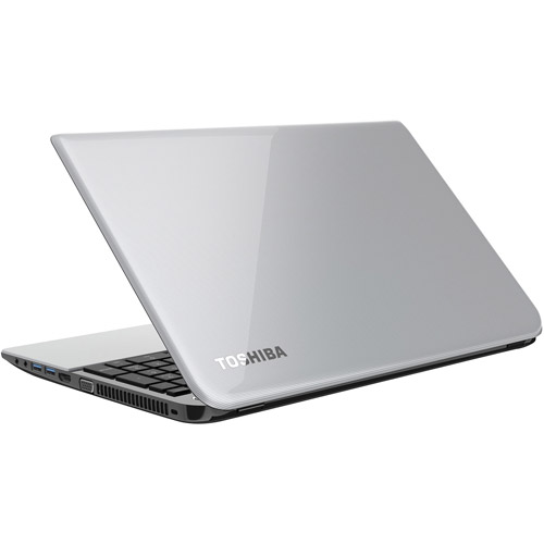"Toshiba Mercury Silver 15.6"" Satellite L55D-A5349 Laptop PC with AMD Quad-Core A8-5545M Processor, 6GB Memory, 750GB Hard Drive and Windows 8"