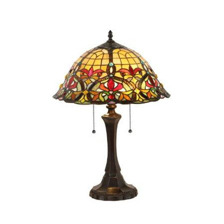 Chloe Lighting CH33389VR16-TL2 Bertram Tiffany-Style Victorian 2 Light Table Lamp 18-Inch Shade - image 1 de 1