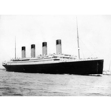 Laminated Poster Rms Titanic Departing Southampton April 10 1912 Great Historic Ships S Poster Print 24 x 36