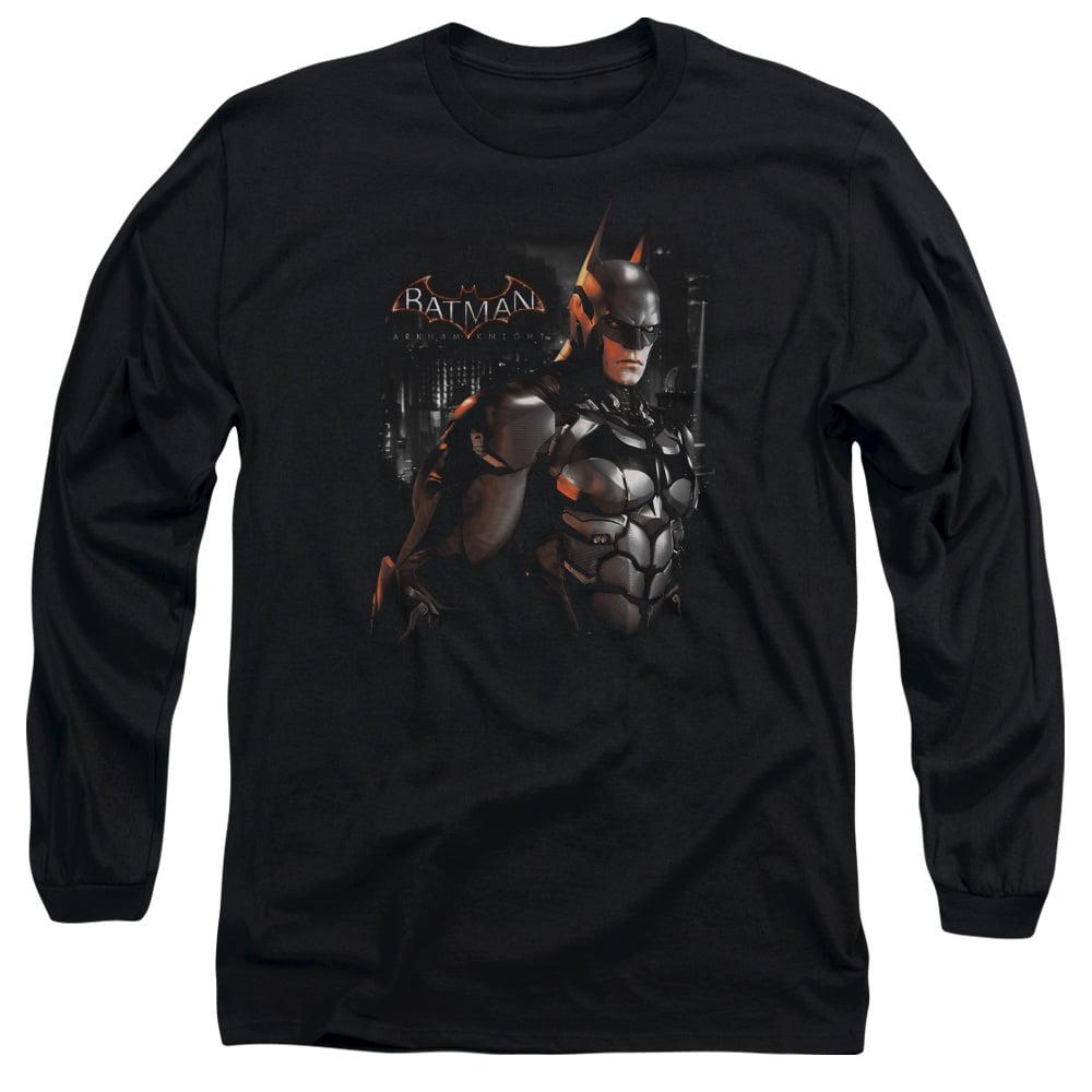 Batman Arkham Knight Dark Knight Mens Long Sleeve Shirt by Trevco