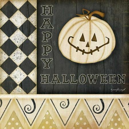 Halloween Pumpkin Art And Craft (Happy Halloween - Pumpkin Stretched Canvas - Jennifer Pugh (24 x)
