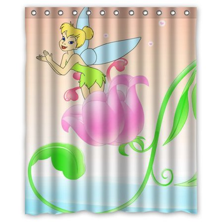 DEYOU Imagenes De Tinkerbell Wonderful Shower Curtain Polyester Fabric Bathroom Size 60x72 Inches