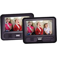 """RCA DRC69707 7"""" Mobile DVD Player with Additional 7"""" Screen"""
