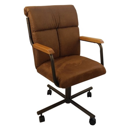 Micro Suede Rocker - Caster Chair Company  C96 Crystal Swivel Tilt Caster Arm Chair in Cocoa Microsuede