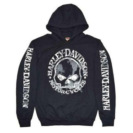 reputable site c93be f9da5 Medium Men's Sweatshirt Willie G Skull Black H-D Pullover (M) 30296648