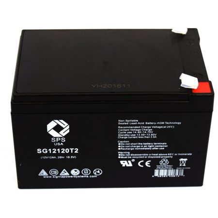 SPS Brand  12V 12 Ah Replacement  battery  with T2 Terminal - SG12120T2 (Sps Kaufen)