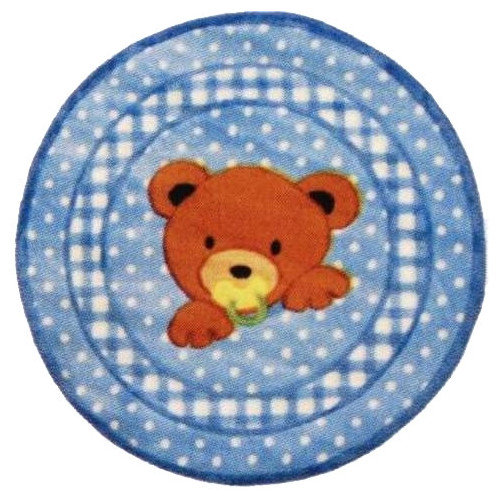 Fun Rugs Supreme Teddy Center Blue Bear Area Rug