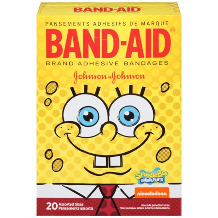 Band Aid  Brand Adhesive Bandages  Spongebob Squarepants   For Kids  Assorted Sizes  20 Count